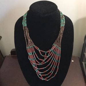 Gorgeous beaded statement necklace